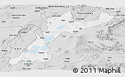 Silver Style Panoramic Map of East Shewa