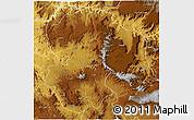 Physical 3D Map of East Wellega