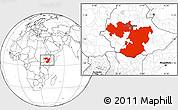 Blank Location Map of Oromiya