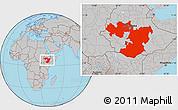 Gray Location Map of Oromiya
