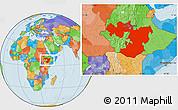 Political Location Map of Oromiya