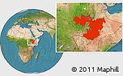 Satellite Location Map of Oromiya