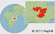 Savanna Style Location Map of Oromiya