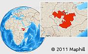 Shaded Relief Location Map of Oromiya