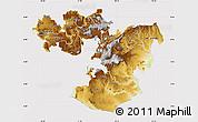 Physical Map of Oromiya, cropped outside