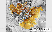 Physical Map of Oromiya, desaturated