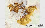 Physical Map of Oromiya, lighten
