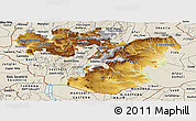 Physical Panoramic Map of Oromiya, shaded relief outside