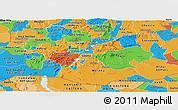 Political Panoramic Map of Oromiya