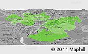 Political Shades Panoramic Map of Oromiya, desaturated