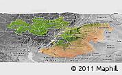 Satellite Panoramic Map of Oromiya, desaturated