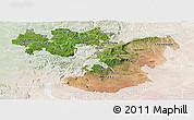 Satellite Panoramic Map of Oromiya, lighten