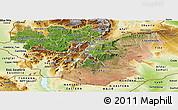Satellite Panoramic Map of Oromiya, physical outside