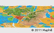 Satellite Panoramic Map of Oromiya, political outside
