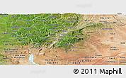 Satellite Panoramic Map of Oromiya