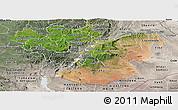 Satellite Panoramic Map of Oromiya, semi-desaturated