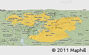 Savanna Style Panoramic Map of Oromiya