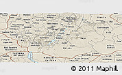 Shaded Relief Panoramic Map of Oromiya