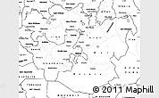 Blank Simple Map of Oromiya