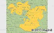 Savanna Style Simple Map of Oromiya