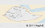 Classic Style Panoramic Map of Ethiopia, single color outside