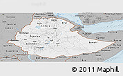 Gray Panoramic Map of Ethiopia