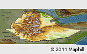 Physical Panoramic Map of Ethiopia, darken