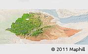 Satellite Panoramic Map of Ethiopia, lighten