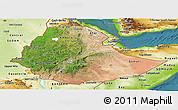 Satellite Panoramic Map of Ethiopia, physical outside, satellite sea