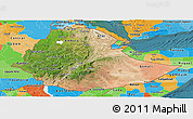 Satellite Panoramic Map of Ethiopia, political outside, satellite sea