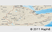 Shaded Relief Panoramic Map of Ethiopia