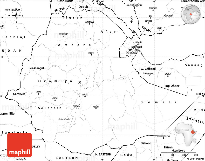 Blank simple map of ethiopia gumiabroncs Choice Image
