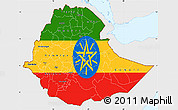 Flag Simple Map of Ethiopia, single color outside