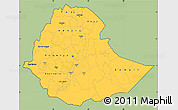 Savanna Style Simple Map of Ethiopia, cropped outside