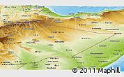 Physical Panoramic Map of Somali