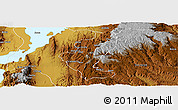 Physical Panoramic Map of Gedio