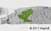 Satellite Panoramic Map of Gedio, lighten, desaturated