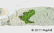Satellite Panoramic Map of Gedio, lighten