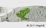 Satellite Panoramic Map of Gedio, lighten, semi-desaturated