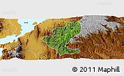 Satellite Panoramic Map of Gedio, physical outside