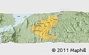 Savanna Style Panoramic Map of Gedio