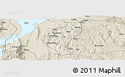 Shaded Relief Panoramic Map of Gedio