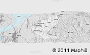 Silver Style Panoramic Map of Gedio