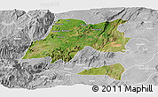Satellite Panoramic Map of Hadiya, lighten, desaturated