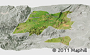 Satellite Panoramic Map of Hadiya, lighten, semi-desaturated