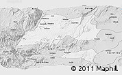 Silver Style Panoramic Map of Hadiya