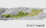 Satellite Panoramic Map of K.A.T., lighten, desaturated
