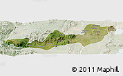 Satellite Panoramic Map of K.A.T., lighten