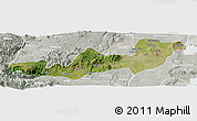 Satellite Panoramic Map of K.A.T., lighten, semi-desaturated
