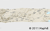 Shaded Relief Panoramic Map of K.A.T.